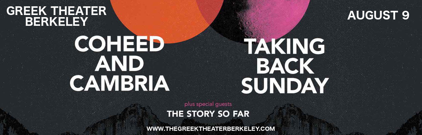Coheed and Cambria & Taking Back Sunday at Greek Theatre Berkeley