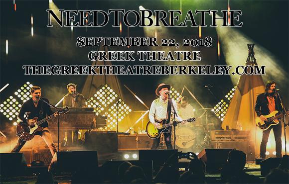 Needtobreathe at Greek Theatre Berkeley