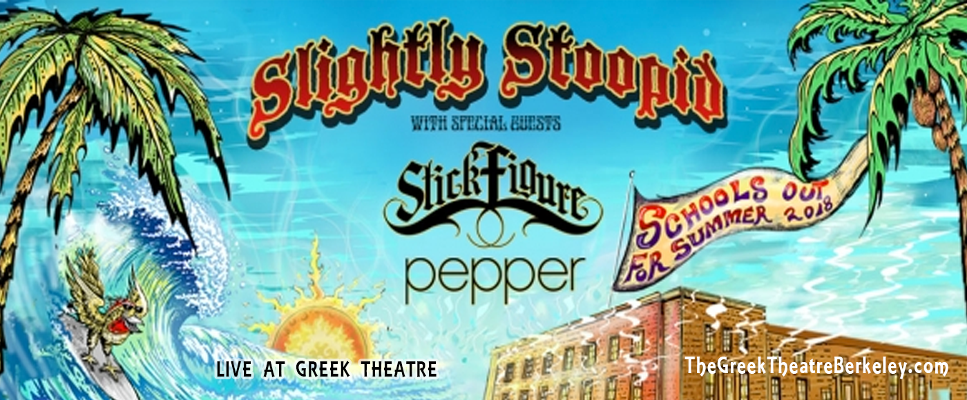 Slightly Stoopid, Stick Figure & Pepper at Greek Theatre Berkeley