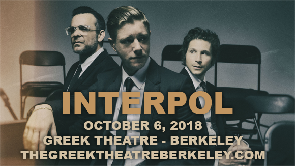 Interpol, The Kills & Sunflower Bean at Greek Theatre Berkeley