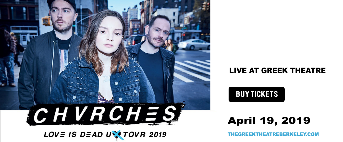 Chvrches at Greek Theatre Berkeley