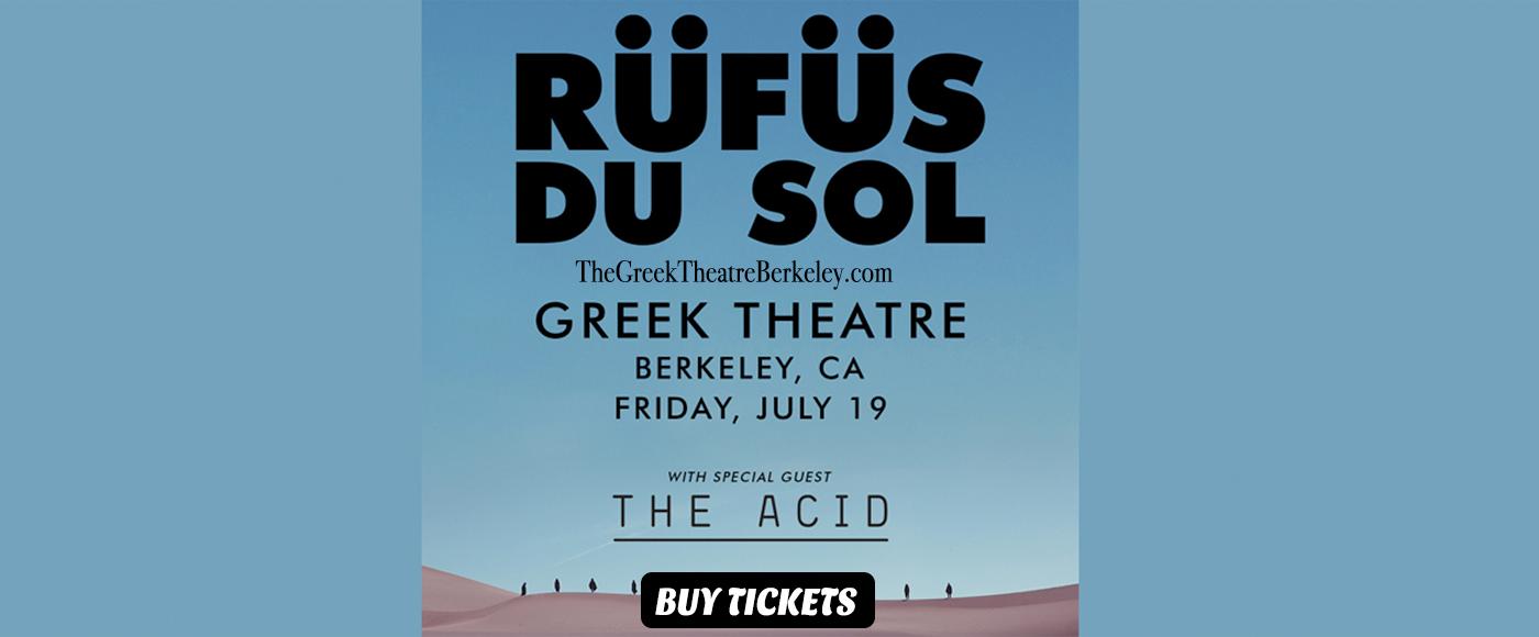 Rufus Du Sol at Greek Theatre Berkeley