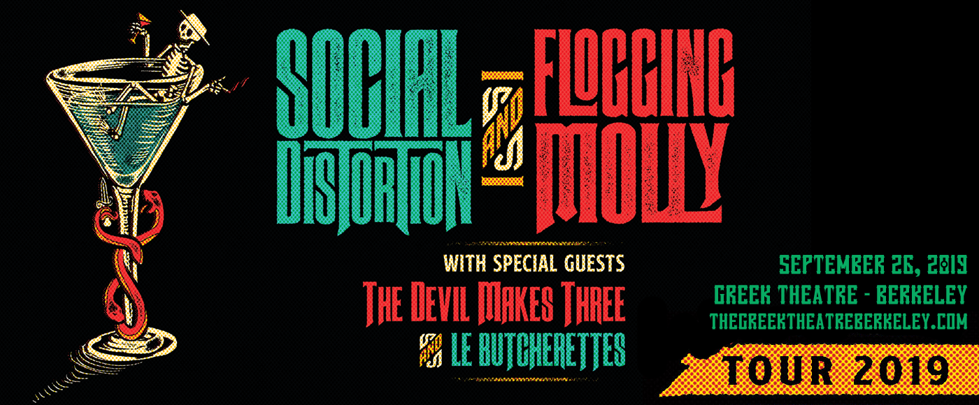 Social Distortion, Flogging Molly & The Devil Makes Three at Greek Theatre Berkeley