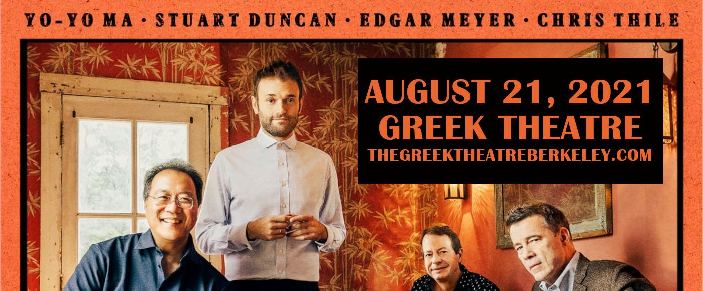 Not Our First Goat Rodeo: Yo-Yo Ma, Stuart Duncan, Edgar Meyer & Chris Thile at Greek Theatre Berkeley