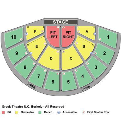 Greek Theater Berkeley Seating Chart